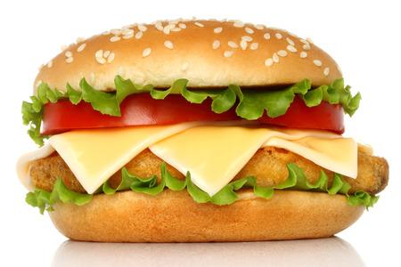 Hambúrguer Big frango no fundo branco