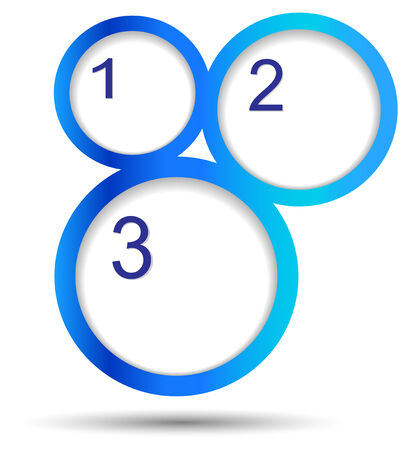 Round labels with numbers on white background, vector eps10 Vector
