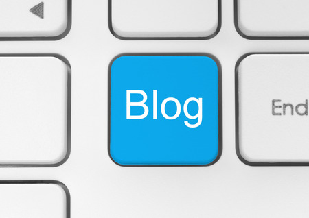 Blog button on the keyboard close-up photo