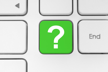Question button on the keyboard photo