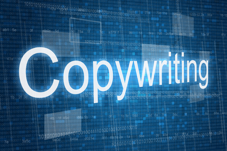 copywriting: Copywriting word on digital background Stock Photo