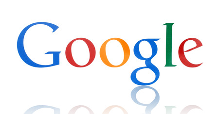 google: KIEV, UKRAINE - FEBRUARY 19, 2015:Google logotype printed on paper. Google is USA multinational corporation specializing in Internet-related services and products.