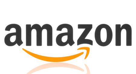 app store: KIEV, UKRAINE - MAY 07, 2015: Amazon logotype printed on paper. Amazon is an American electronic commerce company