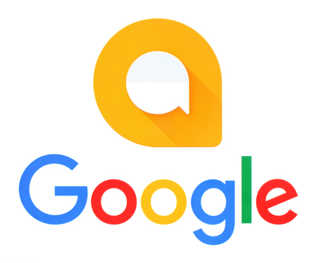 gmail: Kiev, Ukraine - September 21, 2016: Google and Allo logos printed on white paper. Allo is an instant messaging mobile app developed by Google Editorial