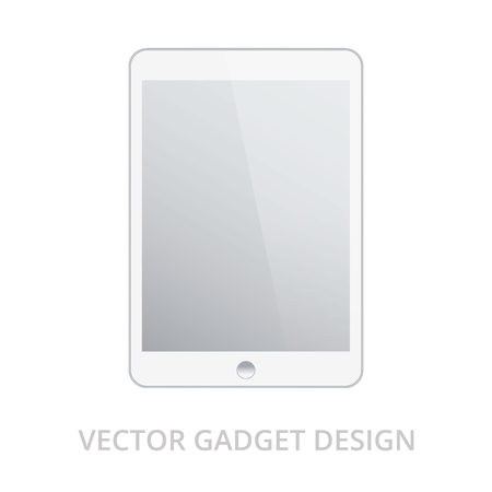 electronic tablet: Tablet pc on white background. Realistic vector illustration, for graphic and web design
