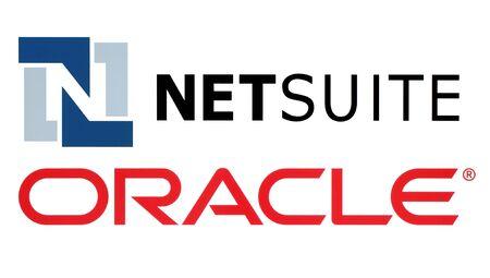 Kiev, Ucrânia - 11 de novembro de 2016: logotipos da Netsuite e Oracle impressos em papel branco. Oracle Corporation é uma corporação multinacional de tecnologia de computadores
