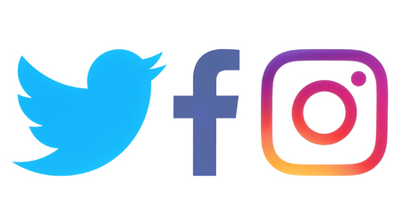 ホワイト ペーパーにキエフ、ウクライナ - 2017 Octobaer 06: Facebook、Twitter や Instagram のロゴ印刷