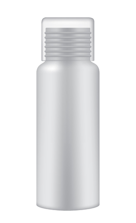 Cosmetic bottle on white background, realistic vector illustration