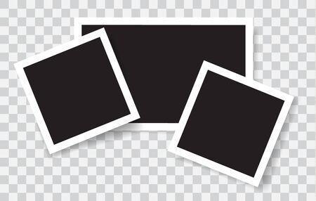 Realistic photo frames Ilustração
