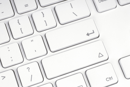 Blank button of the computer keyboard close-up