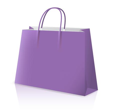 Shopping bag, realistic vector illustration close-up Ilustração
