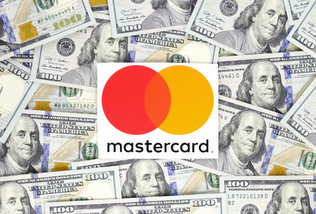 Kiev, Ukraine - September 18, 2018: Mastercard logo printed on paper. Mastercard is an American multinational financial services corporation Editorial