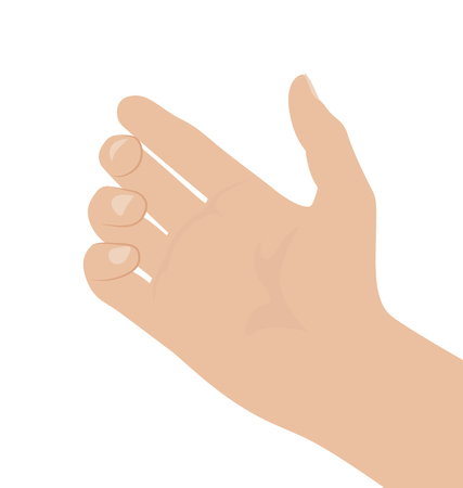 Woman hand on white background, flat design vector illustration Stock fotó - 127343765