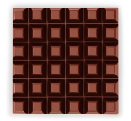 Dark chocolate bar isolated on white background close-up Imagens - 116634210