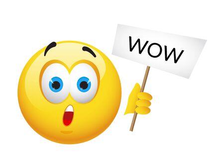 Emoticonos y emojis amarillos. Ilustración de vector en primer plano de estilo realista Ilustración de vector