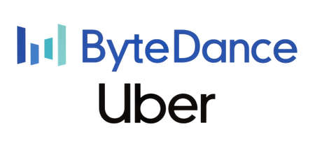 Kiev, Ukraine - February 23, 2020: China's ByteDance leapfrogs Uber to becomes world's most valuable startup. ByteDance is an Internet technology company. Uber is an American multinational company Imagens - 145724917