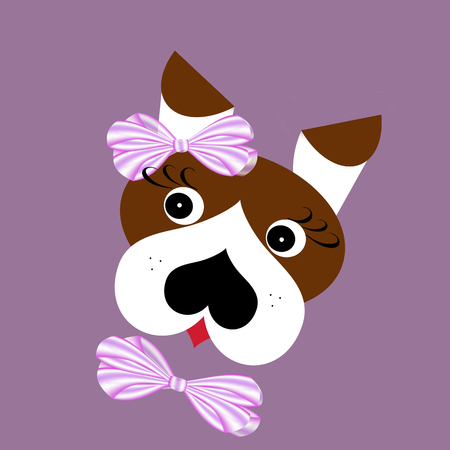 Beautiful Ribbon Bow Adorable Dog - 89779785-cute-dog-portrait-with-pink-ribbon-bows-digital-generated-illustration-as-a-pattern-for-girl-clothin  2018_521739  .jpg?ver\u003d6