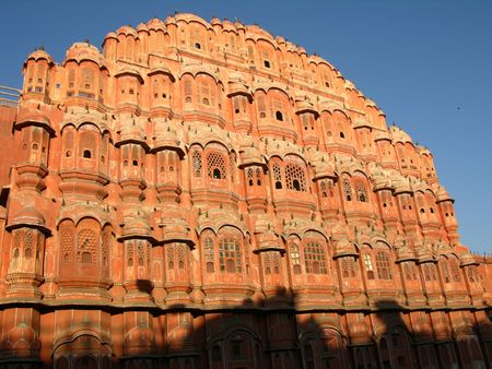 jaipur: Palace of Winds, Jaipur, India, in morning light