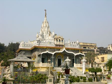 The Mirrored Temple, center of Jain worship in Calcutta (Kolkata), India