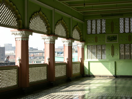Soft light in a mosque at Calcutta (Kolkata), India Stock Photo