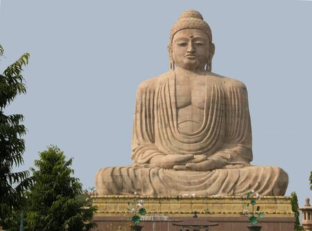 bodhgaya: Giant Buddha (25 m) at Bodhgaya, Bihar, India