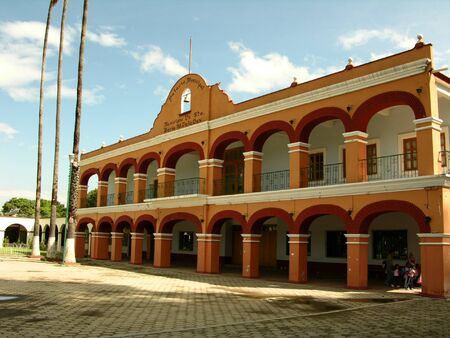 santa maria: City Hall in Santa Maria del Tule, Oaxaca, Mexico