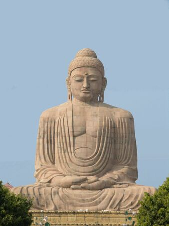 Giant Buddha (25 m) at Bodhgaya, Bihar, India Stock Photo - 1526974