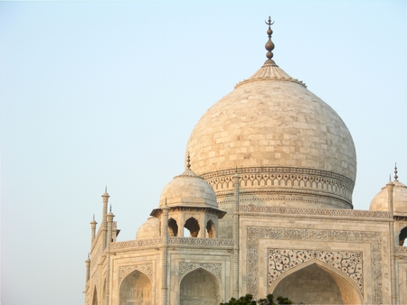 Classic view of Taj Mahal from West Gate Stock Photo - 1536688