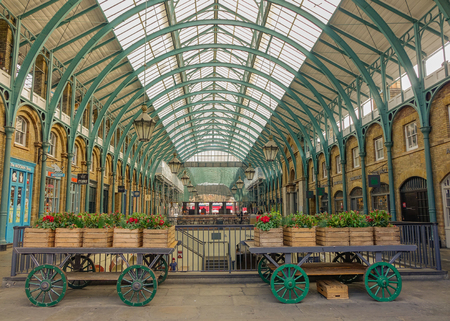 View Of The Main Nave Of Covent Garden Market, With The Decoration ...
