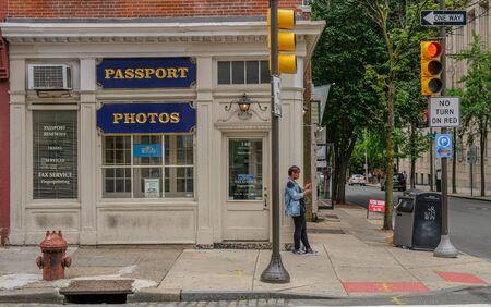 Philadelphia, Pennsylvania, USA - June 6, 2018: Street of the center of Philadelphia