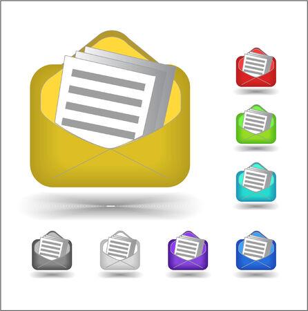 sobres para carta: iconos de correo electr�nico