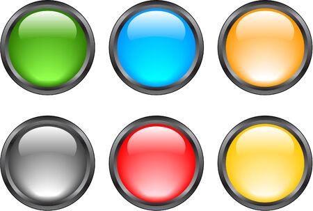 Internet shiny buttons. Vector illustration Stock Vector - 5195295