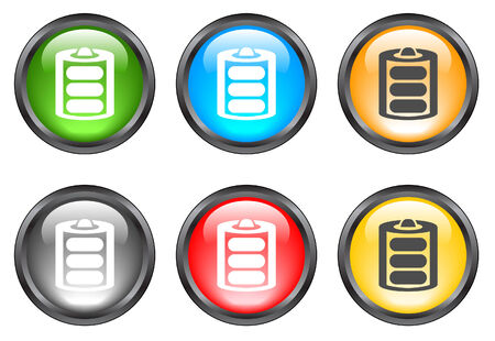 rubbish cart: Internet shiny buttons. Vector illustration