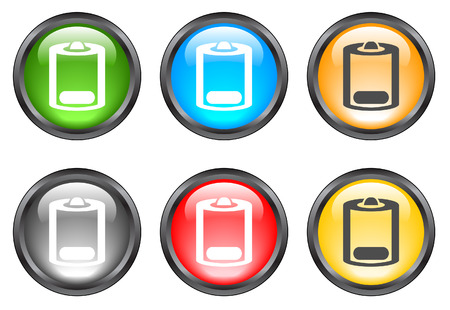 Internet shiny buttons. Vector illustration Stock Vector - 5195506