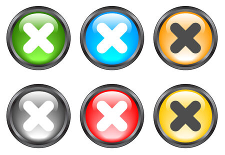 Internet shiny buttons. Vector illustration Stock Vector - 5195502