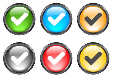 Internet shiny buttons. Vector illustration Vector