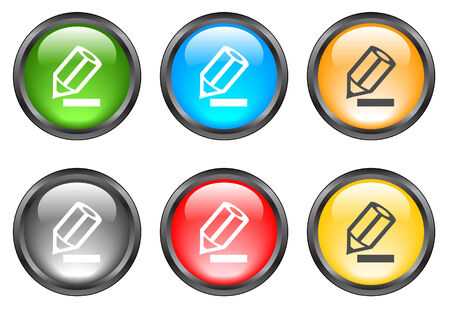 Internet shiny buttons. Vector illustration Stock Vector - 5195507