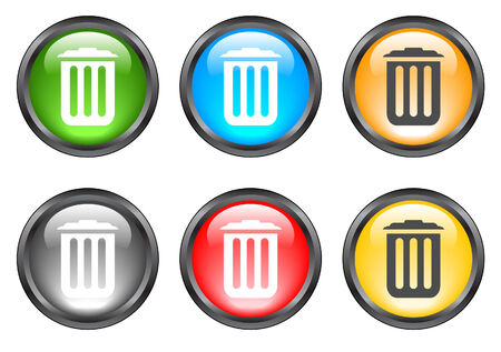 Internet shiny buttons. Vector illustration Vector