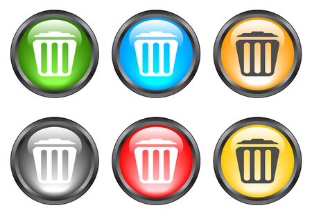 Internet shiny buttons. Vector illustration Stock Vector - 5195574