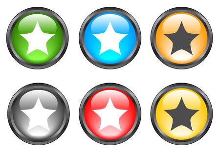 Internet shiny buttons. Vector illustration Stock Vector - 5195509