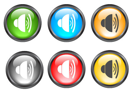 Internet shiny buttons. Vector illustration Stock Vector - 5195492