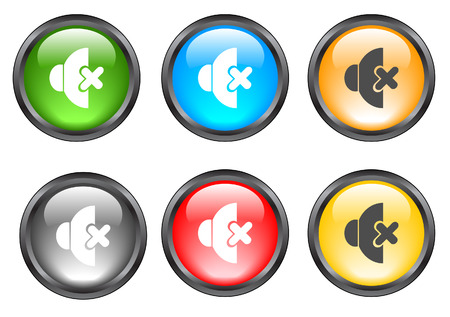 Internet shiny buttons. Vector illustration Stock Vector - 5195493