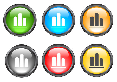 Internet shiny buttons. Vector illustration Stock Vector - 5195304