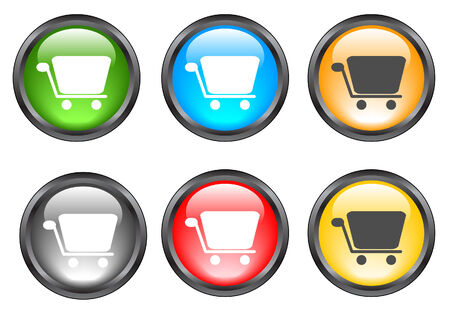 Internet shiny buttons. Vector illustration Stock Vector - 5195308