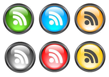 Internet shiny buttons. Vector illustration Stock Vector - 5195297