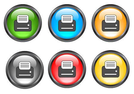 Internet shiny buttons. Vector illustration. Stock Vector - 5195496