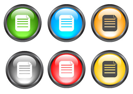 Internet shiny buttons. Vector illustration. Stock Vector - 5195305