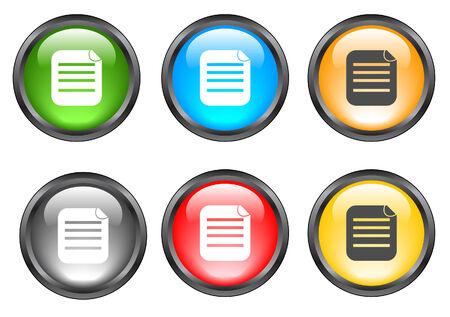 Internet shiny buttons. Vector illustration. Stock Vector - 5195305