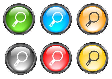 Internet shiny buttons. Vector illustration. Stock Vector - 5195302