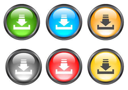 Internet shiny buttons. Vector illustration. Stock Vector - 5195303
